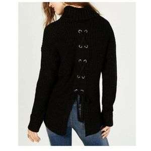 American Rag Turtleneck Lace-Up-Back Sweater M